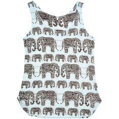 Barcode Apparel Aqua & Black Elephant Tank ($15) ❤ liked on Polyvore featuring tops, elephant print top, elephant tank top, aqua tank top, long tank and long tank tops