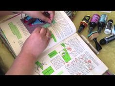 Art Journal Photo tutorial.: video shows her beautiful book.
