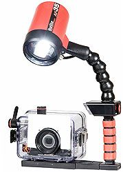 Underwater housing and strobe system for taking awesome shots while scuba diving