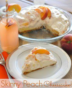 Skinny Peach Cheesecake