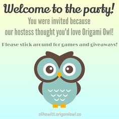 Welcome to the party! Origami Owl