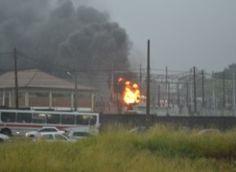 Raio causa explosão em subestação da Enersul e deixa Campo Grande sem luz por horas