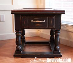 Southern Revivals: Vintage Pine End Tables Get A Makeover An End Table Revival