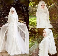 2016 Muslim Wedding Dresses Long sleeves high collar muslim Wedding Dresses With Lace Beads crystals fitted on Islamic Wedding Dresses High Quality Bridal Gowns