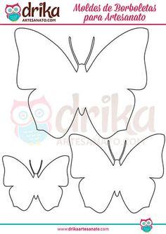 140 Moldes de Borboletas para Imprimir em Vários Tamanhos! Origami, Diy And Crafts, Butterfly, Logos, Ali, Kids, Paper Butterflies, Rag Rugs, Butterfly Stencil