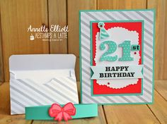 Stampin' UP! card creations by Annette Elliott. 8th Birthday, Birthday Cards, Happy Birthday, Affirmations For Kids, Pumpkin Ideas, Matching Gifts, Balloon Bouquet, Small Cards, Milestone Birthdays