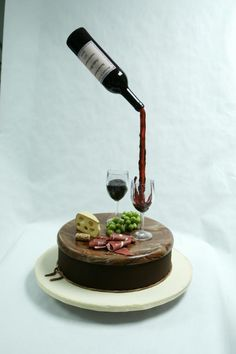 Anti-gravity Cake by Cecil Garcia I (Heart)Cake Decorating-Craftsy Cake Decorating Designs, Cake Decorating Supplies, Cake Designs, Anti Gravity Cake, Gravity Defying Cake, Flower Pot Cake, Alcohol Cake, Realistic Cakes, Chef Cake