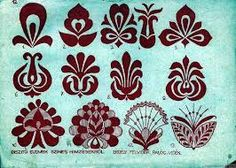 Hungarian Embroidery motívumok 2 Hungarian design - what I'd do to get my hands on some fabric, with… Hungarian Embroidery, Folk Embroidery, Learn Embroidery, Embroidery Stitches, Embroidery Patterns, Chain Stitch, Cross Stitch, Silkscreen, Kirigami