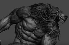 Werewolf based on Simon Bisley artwork. Apocalypse, Skin Walker, Simon Bisley, Werewolf Art, Big Bad Wolf, Creature Design, Zbrush, Mythical Creatures, Life Tattoos