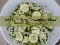 Family Home and Life: Sweet & Sour Cucumber Salad