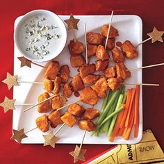 Party Menu Idea: Buffalo Chicken Skewers