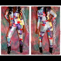 """Selling this """"Color block long sleeve zip up jumpsuit romper"""" in my Poshmark closet! My username is: queendivacloset. #shopmycloset #poshmark #fashion #shopping #style #forsale #Pants"""