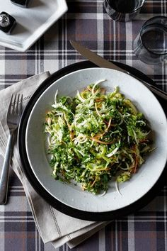 Kale cabbage & carrot salad--it's important not to get stuck in a rut with fresh veggies