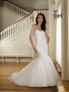 Sirène sweetheart de mariage robe en organza