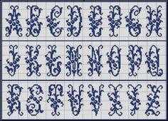 Free Easy Cross, Pattern Maker, PCStitch Charts + Free Historic Old Pattern Books: Sajou No 51 Easy Cross, Cross Stitch Letters, Pattern Books, Stitch Patterns, Needlework, Stitches, Nostalgia, Chart, Lettering