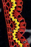Yellow ric rac edging • free crochet pattern