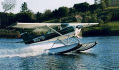 Cessna 150-150 float plane. by doneastwest, via Flickr