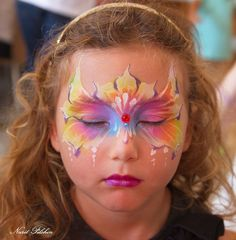 Nurit Pilchin Face Painting Designs, Body Painting, Face Art, Design Tutorials, Painting Inspiration, Facial, Mask Ideas, Face Paintings, Rainbows