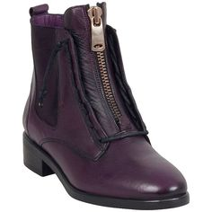 Miz Mooz Women's Affair Ankle Boot (20110 ALL) ❤ liked on Polyvore featuring shoes, boots, ankle booties, purple, lace up bootie, leather chelsea boots, lace up ankle booties, purple leather boots and lace up boots