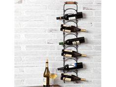 Hanging Metal Wine Bottle Rack