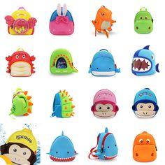 Toddler Kids Child Boy Girl Cartoon Animal 3D Backpack Schoolbag Shoulder Bags