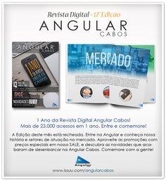 Edição 12 da Revista Digital Angular Cabos. Comemoração de 1 ano da Revista, promoções, ofertas SALE e Novidades na linha de produtos da ASK.