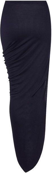Asymmetric Drape Skirt - Lyst
