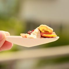 Strong Bagasse Teardrop Spoon - perfect to enhance your food presentations.