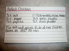 The Recipe Crayon Box: Perfect Chicken