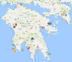 carte du Péloponnèse en Grèce - blog Camille In Bordeaux