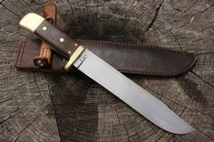 """Hand Forged Custom Bowie Knife 8.5"""" Blade Spring Steel Flat Ground Williams…"""