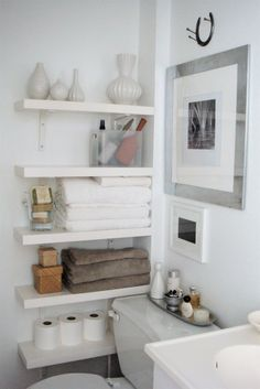 Over The Toilet Leaning Ladder Shelf, Made to Order, Decor, Bathroom ...