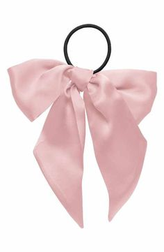 Erickson Large Bow Ponytail Holder In Piglet Bow Ponytail, Clip Hairstyles, Bff Birthday Gift, Hair Essentials, Girly Gifts, Diy Hair Bows, Ponytail Holders, Hair Ties, Headbands