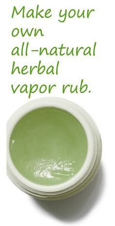 Choose to take care of your family in the most natural way and make your own all natural herb vapor rub that will make everyone feel better! Commercial vapo-rub contains petroleum products.