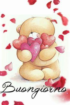 Buongiorno Italian Greetings, Italian Quotes, Good Morning Good Night, Friendship Quotes, Winnie The Pooh, Snoopy, Teddy Bear, Bears, Audi