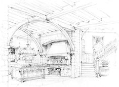 Fusch Architects | Architects & Planners » Renderings/ love this kitchen design!!!!!!!!!:}