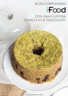 Fluffosa_Pistacchio_e_cioccolato American Cake, Good Food, Yummy Food, Angel Cake, Plum Cake, Chiffon Cake, Sponge Cake, Cake Cookies, Nutella
