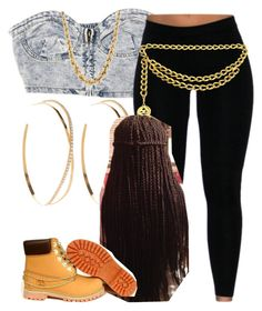 """""""The Trill Dollz Performance-Nini"""" by newtrillvibes ❤ liked on Polyvore featuring Chanel, Lana, Timberland, women's clothing, women's fashion, women, female, woman, misses and juniors"""