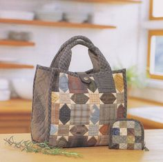 No.32 PDF Pattern of How to Set Handbag and wallet bag coin purse quilt applique patchwork gift handmade