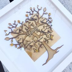 Items similar to Family tree frame gift, family keepsake, home decor family decor Scrabble Crafts, Scrabble Art, Scrabble Tiles, Craft Gifts, Diy Gifts, Handmade Gifts, Family Tree Frame, Canvas Art Quotes, Picture Gifts