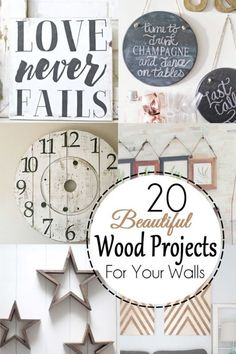 20 Ways to Decorate Blank Walls with Beautiful Wood Projects - From reclaimed wood projects to modern plywood brilliance, you will find something to fit many different decorating styles.
