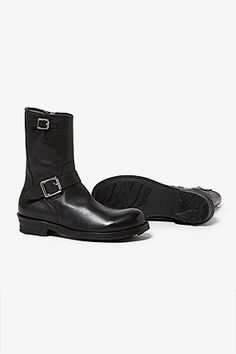 BIKER ZIP UP BOOTS COW LEATHER by OFFICINE CREATIVE | BOOTS | COVERCHORD