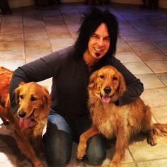 Photo of Nikki Sixx & his  Dog