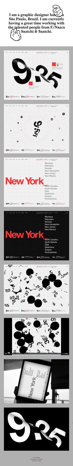 Pin by Arvo on UI & Web design inspiration / Web / Design / Ideas Inspiration / Typography / Optical / Distortion / Numbers / Lettering / Black / White / Color Accent / Red / Modern / White Space