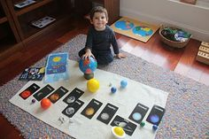 Space lessons: very well done Montessori lesson on the Solar System