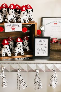 Industrial & Modern Fire Truck + Puppy Birthday Party: Favors Idea