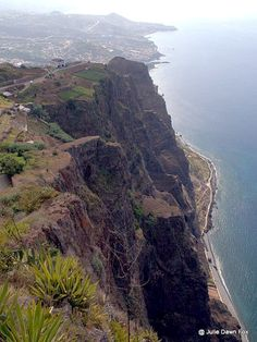 Cliffs, Cabo Girão, Madeira, Portugal  Exploring Madeira by sidecar: an exhilarating introduction to the island – By Julie Dawn Fox via Portuguese American Journal