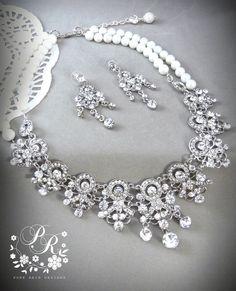 Gorgeous Bridal Swarovski Pearl Rhinestone by PureRainDesigns, $98.00