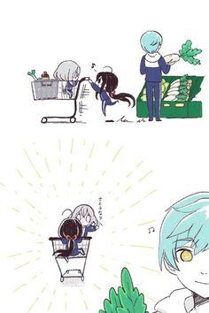 @kararun: ぴるくる 2018-05-21 14:20逃避行 Rurouni Kenshin, Anime Neko, Cute Comics, Touken Ranbu, Cute Boys, Chibi, Kawaii, Fan Art, Manga