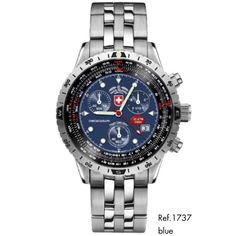 AIRFORCE 1, 1737, blue dial by CX SWISS MILITARY WATCH: https://www.swiss-military.net/airforce
